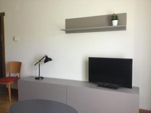 Una televisión o centro de entretenimiento en Apartamentos Irati