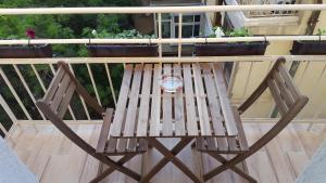 A balcony or terrace at Vitosha 60 Apartment