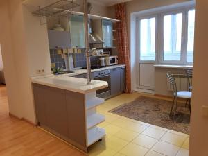 A kitchen or kitchenette at Apartment on Karmanitskiy