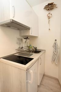 A kitchen or kitchenette at Apartma Mery