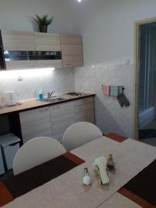 Кухня или мини-кухня в Apartments U Vahy