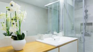 A bathroom at Praça 44 - Boutique Apartments