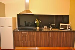 A cozinha ou kitchenette de Low Cost Tourist Apartments - Palácio da Bolsa