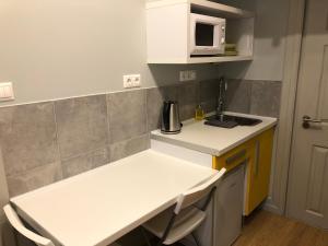Η κουζίνα ή μικρή κουζίνα στο Economy Apartments