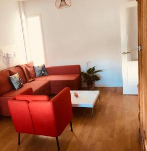 A seating area at Vakantiehuis Berg