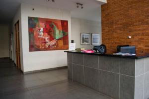 El vestíbulo o zona de recepción de Austral Rentahome Galvarino