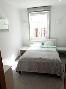 Letto o letti in una camera di Sopocki Apartament