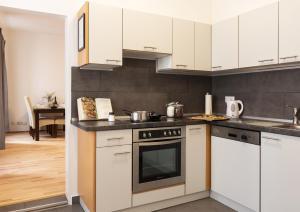 Kuchyňa alebo kuchynka v ubytovaní Viennese Prater Residence