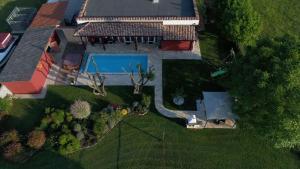 A bird's-eye view of Villa Parenzana