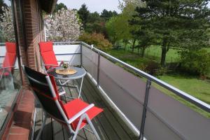 A balcony or terrace at Haus Strandgut/1