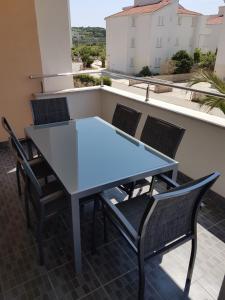 Balkón nebo terasa v ubytování Apartment Novalja 4+2