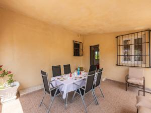 Dining area at the villa