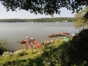 Villa Wodnik nad jeziorem с высоты птичьего полета