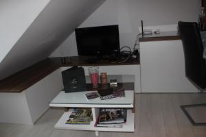 A television and/or entertainment center at Anna apartment