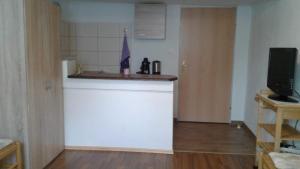 Küche/Küchenzeile in der Unterkunft Apartment don bosco
