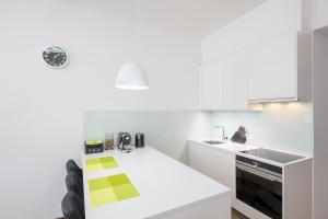 A kitchen or kitchenette at Letna luxury apartment