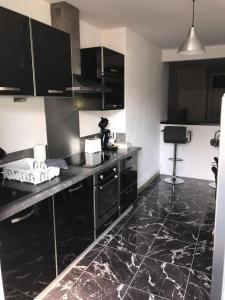 Cuisine ou kitchenette dans l'établissement Appartement coeur de ville