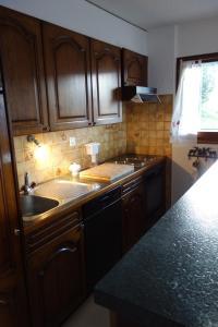 Küche/Küchenzeile in der Unterkunft Appartements Fontanettaz