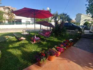 A garden outside Villa Fontana
