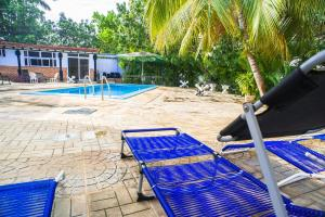 The swimming pool at or near Luxury Villa with Bungalow and Pool