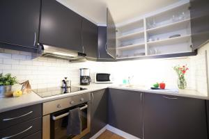 A kitchen or kitchenette at BJØRVIKA APARTMENTS, Teaterplassen, Oslo city center