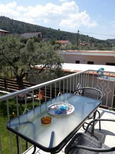 Balkón nebo terasa v ubytování Filoxenia Apartments