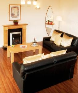 A seating area at The Gleneagle River Apartments