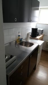Küche/Küchenzeile in der Unterkunft Apartment Nähe Rathaus