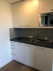 Een keuken of kitchenette bij appartementen Valkenburg / Den Driesch