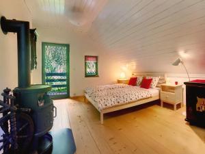 Postelja oz. postelje v sobi nastanitve Chalet Jasmin