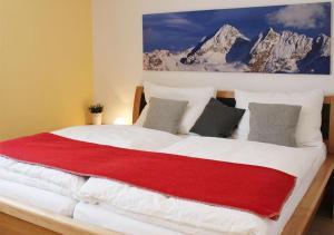 Postel nebo postele na pokoji v ubytování Appartements Naturnah