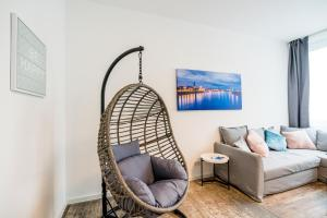 A seating area at Centerapartments Wagnerstrasse