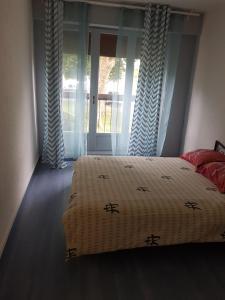 Un ou plusieurs lits dans un hébergement de l'établissement Jolie appar