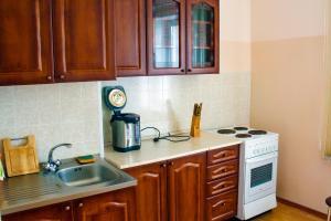 A kitchen or kitchenette at Байкальская гавань