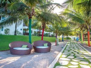 Um jardim em Marulhos Resort Porto de Galinhas (Muro Alto)