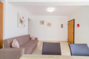 A seating area at Casa Marinella