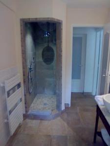 Salle de bains dans l'établissement Domaine du Bois d'Amont