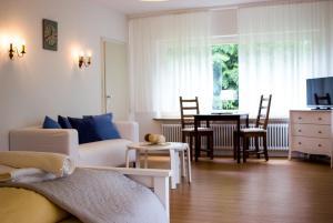 Ein Sitzbereich in der Unterkunft Appartementhaus Martin