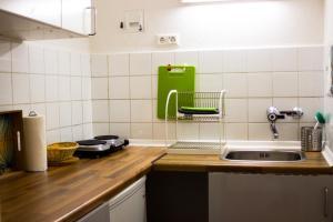 Küche/Küchenzeile in der Unterkunft Appartementhaus Martin