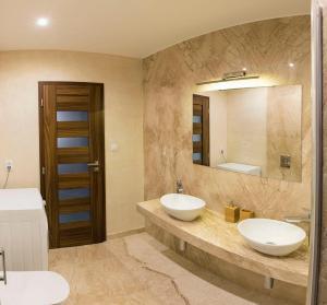 Kúpeľňa v ubytovaní Rooftop apartment I.
