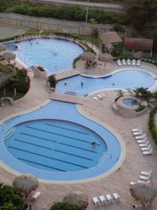A view of the pool at ZAZUÉ or nearby