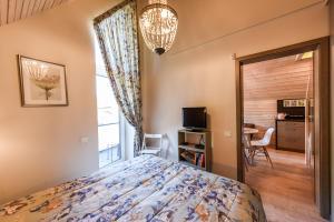 Voodi või voodid majutusasutuse Green House Apartment toas