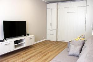 Телевизор и/или развлекательный центр в Apartamenty v Svetlogorske