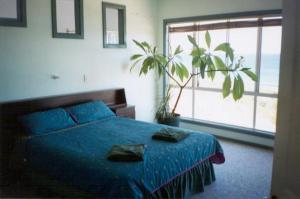 A bed or beds in a room at Seaview Holiday House
