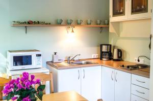 Köök või kööginurk majutusasutuses Pärnu Sadama 4 Street Apartment