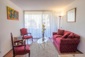 Zona de estar de Aconcagua Apartments