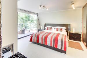 Cama o camas de una habitación en Departamento Lujoso en Providencia