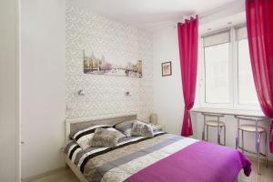Łóżko lub łóżka w pokoju w obiekcie City center - Gdańsk Old Town Apartment