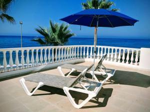 A balcony or terrace at Apartamentos Perla Marina