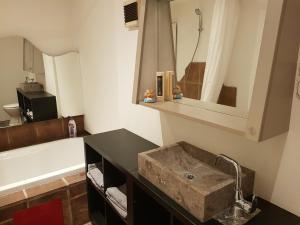 Ein Badezimmer in der Unterkunft Appartement Parsch
